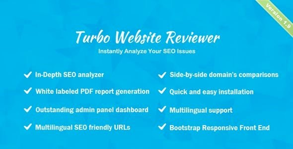 Turbo Website Reviewer v.2.2 Nulled – In-depth SEO Analysis Tool