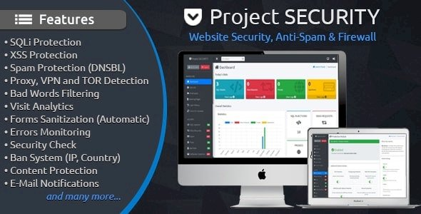 Project SECURITY v.4.1.1 Nulled – Website Security, Anti-Spam & Firewall