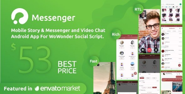 WoWonder Android Messenger v.2.8 Nulled