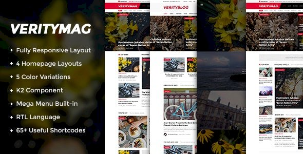 VerityMag v3.9.6 – Creative News/Magazine Joomla Template