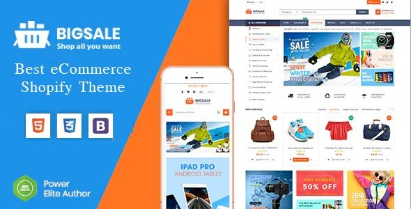 BigSale v1.0.0 – The Clean, Minimal & Unlimited Bootstrap 4 Shopify Theme (12+ HomePages)