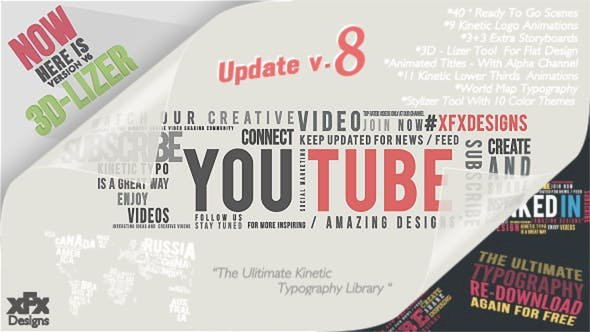 Kinetic Typography Pack V8.0 – Project for After Effects (Videohive)
