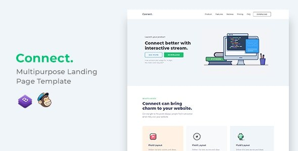 Connect Nulled v.1.0.1 Multipurpose Landing Page Template Free Download