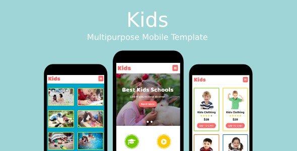 Kids Nulled v.1.0.1 – Multipurpose Mobile Template Free Download