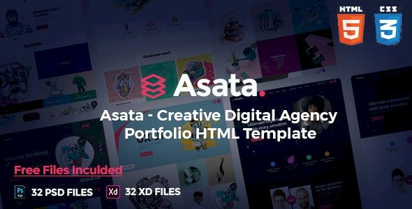Asata Nulled v.1.0.1 – Creative Digital Agency Portfolio Template Free Download