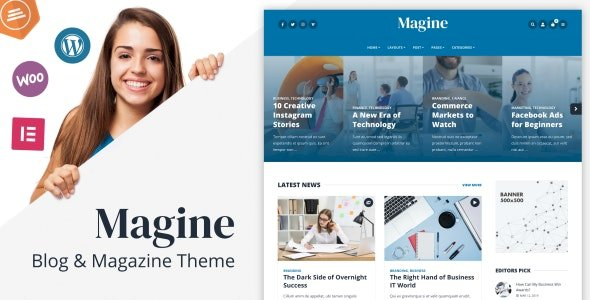 Magine Nulled v.1.0.1 – Business Blog WordPress Theme Free Download