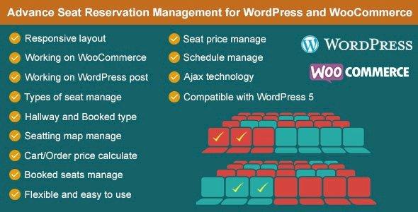Advance Seat Reservation Management for WooCommerce Nulled v.2.8.1 Free Download