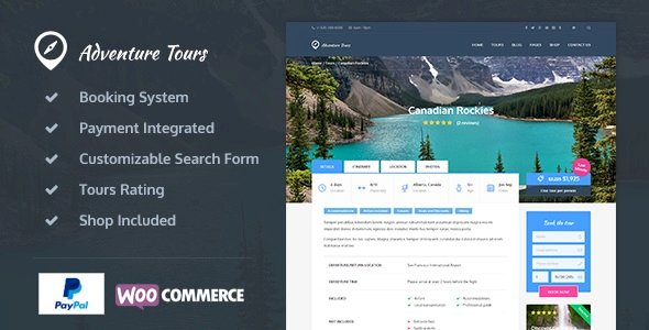 Adventure Tours v.4.0.0.1 Nulled – WordPress Tour/Travel Theme Free Download