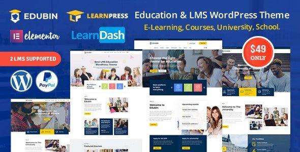 Edubin – Education LMS WordPress Theme v6.9.9