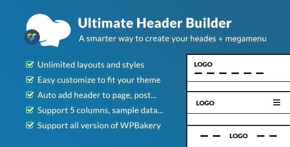 Ultimate Header Builder – Addon WPBakery Page Builder v1.6.9