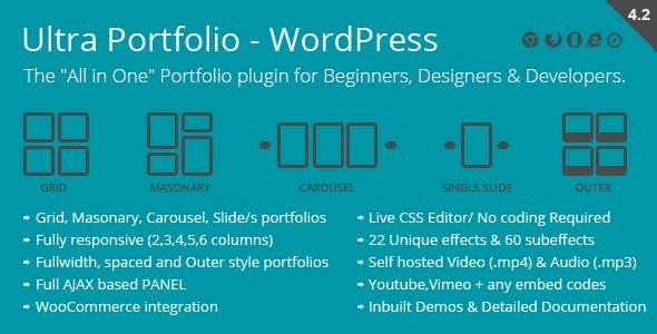 Ultra Portfolio – WordPress Plugin v5.2