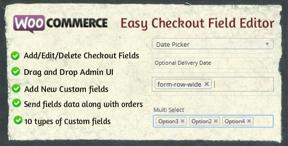 Woocommerce Easy Checkout Field Editor v2.3.0