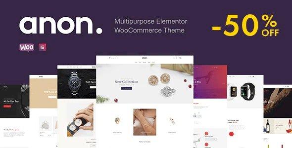 Anon – Multipurpose Elementor WooCommerce Theme v2.0.3