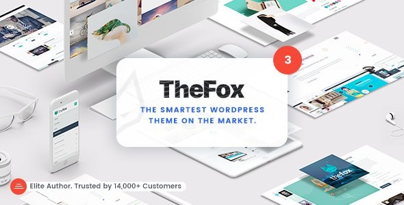 TheFox   Responsive Multi-Purpose WordPress Theme v3.9.9.9.29 Nulled