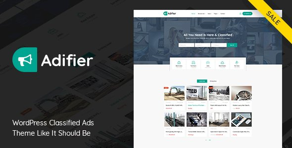 Adifier – Classified Ads WordPress Theme v3.8.8