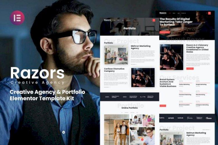 Razors – Creative Agency & Portfolio Elementor Template Kit