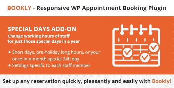 Bookly Special Days (Add-on) v4.2