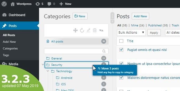 WordPress Real Category Management – Custom category term order / Tree view v4.0.8 Nulled