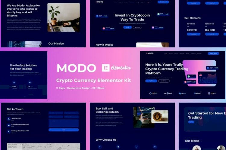 MODO – Crypto Currency Elementor Template Kit