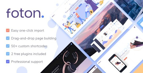 Foton – Software and App Landing Page Theme v2.2
