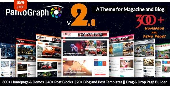 PantoGraph – Newspaper Magazine Theme v3.7.2