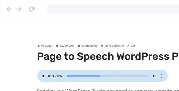 Speaker – Page to Speech Plugin for WordPress v3.2.5