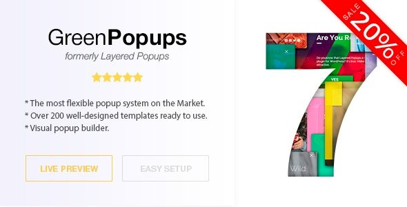 Green Popups – Popups Plugin for WordPress (formerly Layered Popup) v7.30